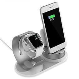 Multiple Apple Watch and iPhone Charging Station,Aluminum Ch