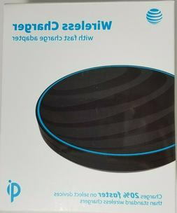 NEW AT&T QI WIRELESS CHARGER WITH FAST CHARGER ADAPTER APPLE