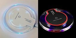 New Qi Wireless Fast Charger Clear Charging Pad for iPhone &