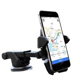 One hand,iBarbe Car Mount Universal Phone Holder Windshield