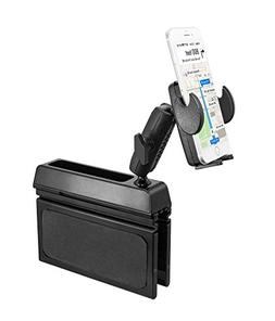 Premium Phone Car Mount Front or Backseat Holder Wedge Conso