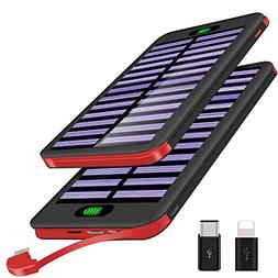 VNOOKY Portable Charger Power Bank 16000mAh Solar Charger wi