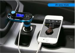 Portable-Dual-USB-Car-Charger-Wireless-Bluetooth-MP3-AUX-Pla