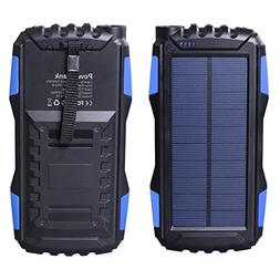 Solar Charger, Friengood Portable 25000mAh Solar Power Bank,