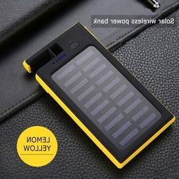 Portable Solar Power Bank 20000mAh Fast Qi Wireless Charger