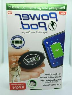 As Seen On TV Power Pod Keychain Phone Charger Emergency Cha