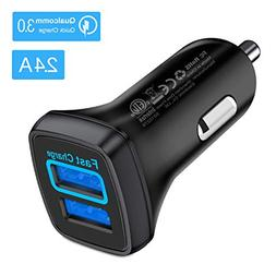 VANMASS QC 3.0 Car Charger, 30W 3.5A Car Phone Charger Adapt