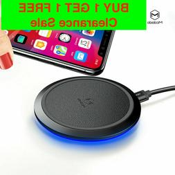 Qi Fast Wireless Charger&Charging Pad for iPhone 11/XS/X/8&G