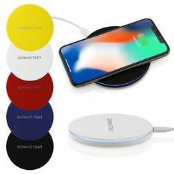 Qi Fast Wireless Charger Charging LED Pad for iPhone X 8 8 P