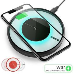 qi fast wireless charger charging pad