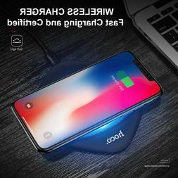 Qi Fast Wireless Charger Charging Pad for iPhone X/8/8 Plus