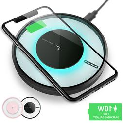 Qi Fast Wireless Charger Charging Pad For Galaxy S20/+/Ultra