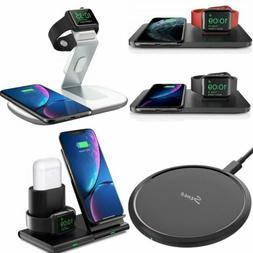Seneo Qi Fast Wireless Charger Charging Stand Pad For iPhone