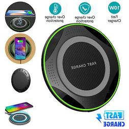 Qi Faster Wireless Charging Charger Pad LED Dock For iPhone