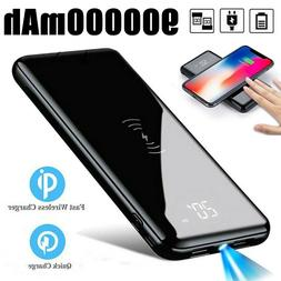 Qi Wireless 900000mAh Power Bank Portable Backup Charger Ext