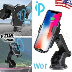 Qi Wireless Automatic Clamping Fast Charging Car Charger Mou