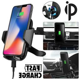 Qi Wireless Car Charger Air Vent Mount Holder for Samsung No
