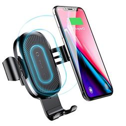 Baseus 10W QI Wireless Car Charger Air Vent Holder For iPhon