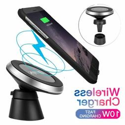 Qi Wireless Car Charger Magnetic Air Vent Mount Holder For i