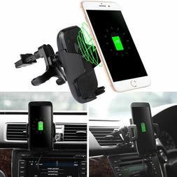 Qi Wireless Car Charger Mobile Phone Car Vehicle Dock Air Ve