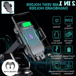 Qi Wireless Car Charger  Mount Clamping Air Vent Phone Holde