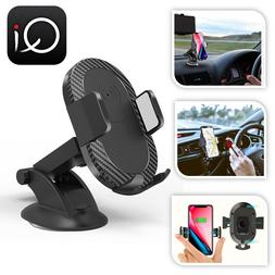 Car Phone Holder Wireless Fast Charger QI Mount Holder Stand