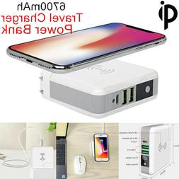 QI Wireless Charger 6700mAh Power Bank External Battery for