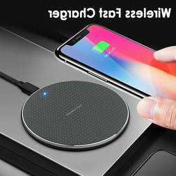 Qi Wireless Charger Charging Dock Pad Mat Samsung S10 iPhone