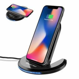 Qi Wireless Charger Charging Stand Dock Pad For Samsung S8+