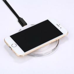 Qi Wireless Charger Dock Disk with Receiver for Apple iPhone