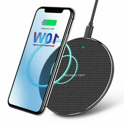 Qi Wireless Charger Fast Charge Pad For iPhone XS Max X XR 1