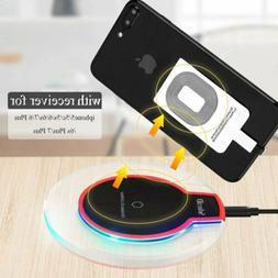 Qi Wireless Charger Pad Dock Charging +Receiver for iPhone 5
