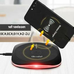 Qi Wireless Charger Portable Charging Pad For LG V30 Plus V4