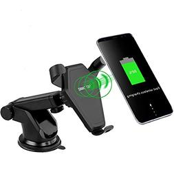 Allstrying QI Wireless Charger,2 in1 Car Mount Charger Air V