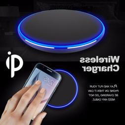 Qi Wireless Charger Slim Pad Mat Aluminum For iPhone X XS Ma