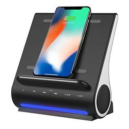 Portable Bluetooth Speakers with Wireless Charger, Wireless