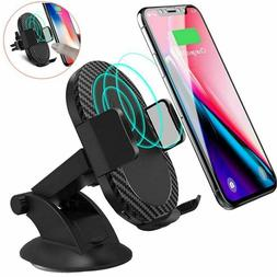 QI Wireless Fast Car Charger Mount Holder Stand 10W for Sams