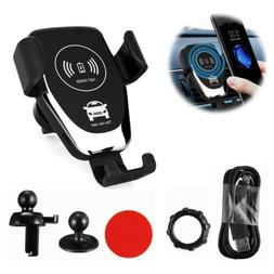 QI Wireless Fast Charger Car Mount Holder Stand For Samsung