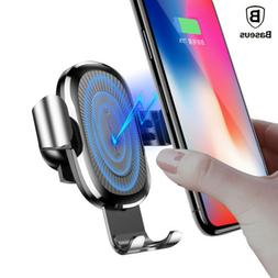 Qi Wireless Fast Charger Baseus Car Quick Mount 3.0 Portable