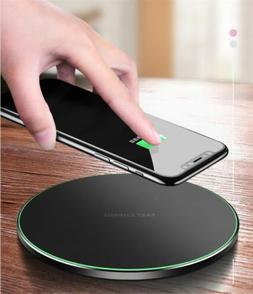 Qi Wireless Fast Charger Charging Dock Pad +Adapte For Samsu