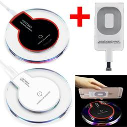 Qi Wireless Fast Charger Charging Pad + Receiver For iPhone