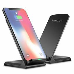 Qi Wireless Fast Charger Charging Pad Stand Dock iPhone XS 8