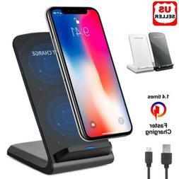 Qi Wireless Fast Charger Charging Pad Stand Dock For Galaxy