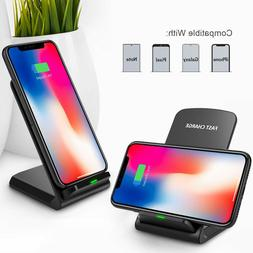 Qi Wireless Fast Charger Charging Pad Stand Dock For iPhone