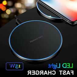 Qi Wireless Fast Charger For Samsung Galaxy S10 S9 S8 For iP