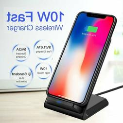Qi Wireless Fast Charger Stand Dock Pad For LG G7/G7+ ThinQ/