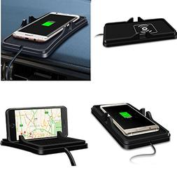 YICHUMY Qi Wreless Charger Car Phone Holder Dashboard Phone