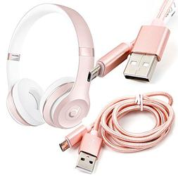 DURAGADGET Rose Gold Micro USB Data Sync Cable for The Beats