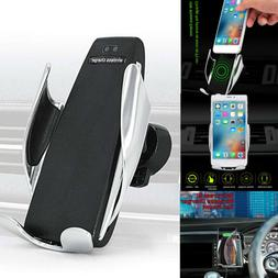 Rotate Automatic Clamping Wireless Car Charger Receiver Moun