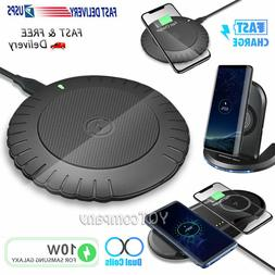 For Samsung S21 S20 S10 S9 S8 Note 20 Note10 Wireless Fast C